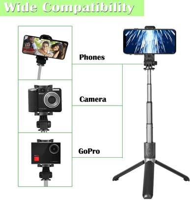 Selfie Stick, Aluminium Alloy Selfie Stick with Detachable Wireless Remote and Mini Tripod Stand Selfie Stick for GOPRO and smartphones image 5