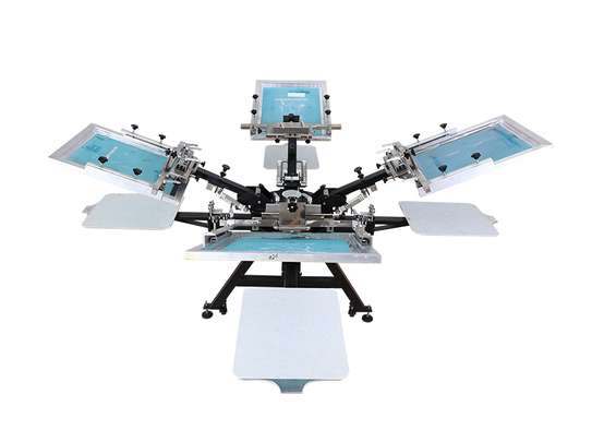 4 Color 4 Station Screen Printing Machine image 1