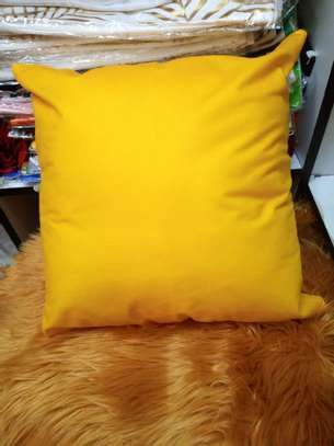 Yellow Throw Pillow Cover image 1