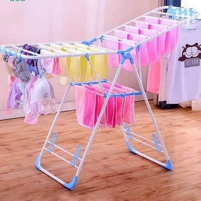 Portable foldable cloth drying rack cloth line for outdoor indoor use image 1