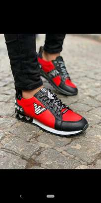 Red Versace designer sneakers image 1