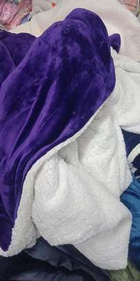 5 by 6 Flannel Throw Sherpa Super warm Fleece blanket image 12