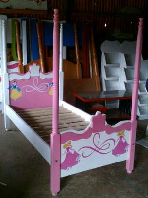 Kids post beds with storage drawers image 3
