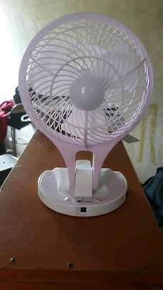 rechargeable fan with emergency light image 1