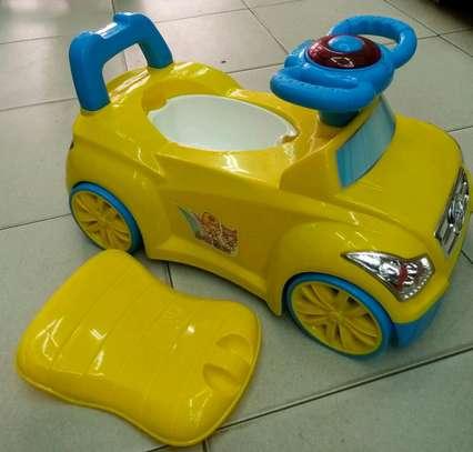 Baby potty cum ride on car 2.5 cc image 1