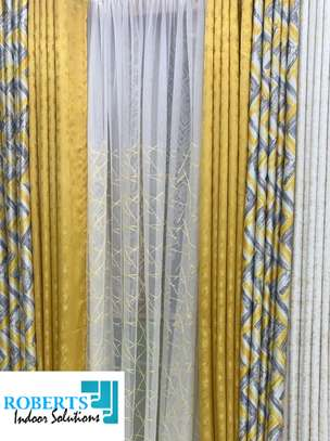 new printed yellow curtain image 1