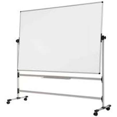 Portable double whiteboard 4*4ft image 1