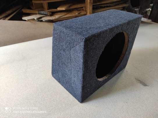12 Inch space saving bass speaker enclosure. image 1