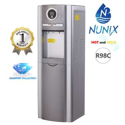 Nunix Hot And Cold Standing Dispenser Silver R98C image 1