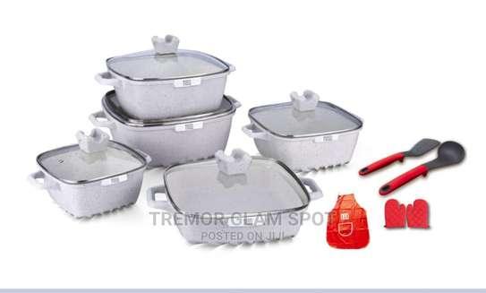 15pcs Square Cookware Sets image 1