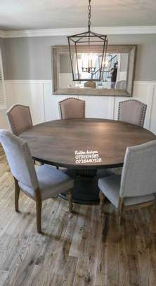 Six seater dining set/round tabled dining set image 1