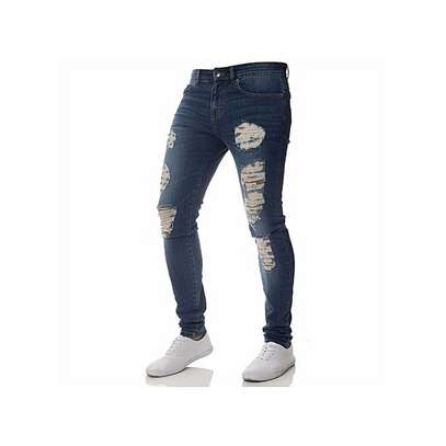 Skinny Ripped Jeans For Men image 1