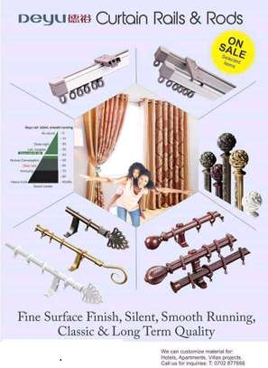 curtain rails in windows for curtains and shears