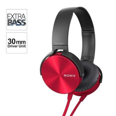 Sony Extra Bass Music Headphones -Red image 1