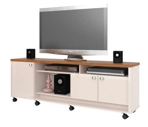 TV UNIT DALLAS OFFWHITE /ALMOND image 1