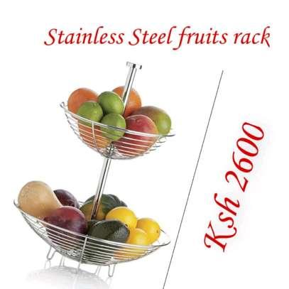 Stainless steel fruit rack image 1