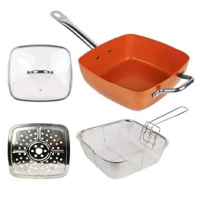 Multi purpose copper pan image 2