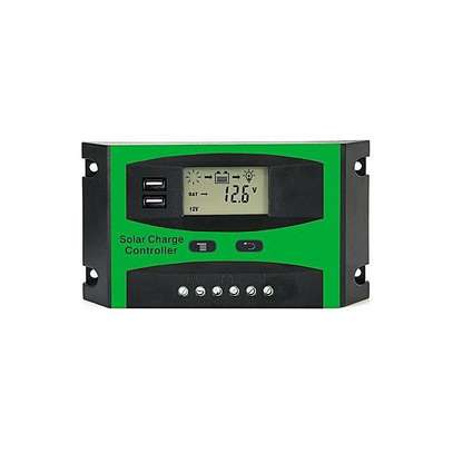 Solarmax 20A LCD Auto PWM Solar Cell Panel Battery Charge Controller Regulators LCD Display Dual USB 12V/24V image 1