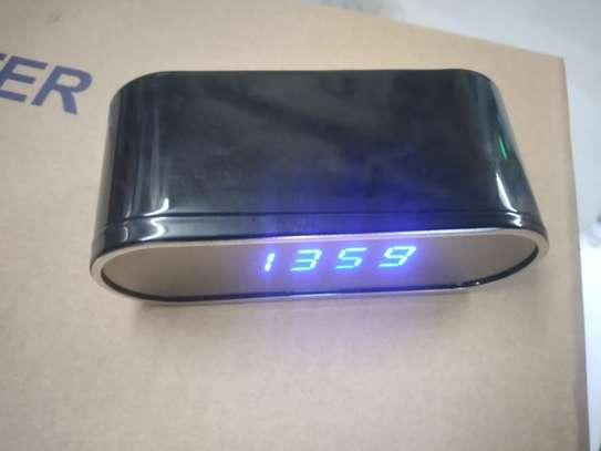 digital wall clock nanny camera image 1