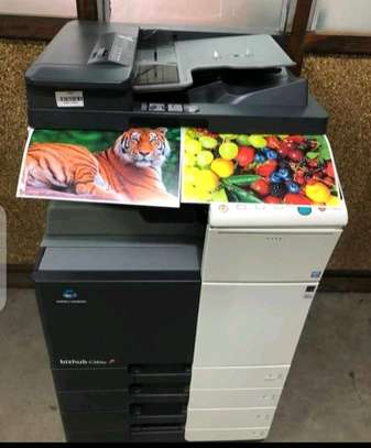 Fully featured Konica minolta bizhub C364E colored photocopier machine image 1