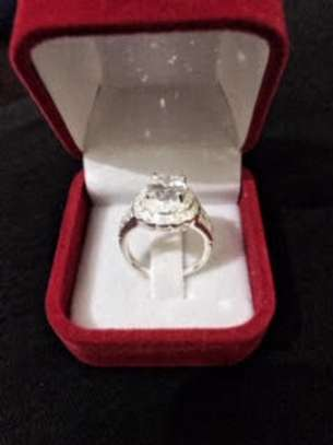 Iced Wedding/Engagement Ring