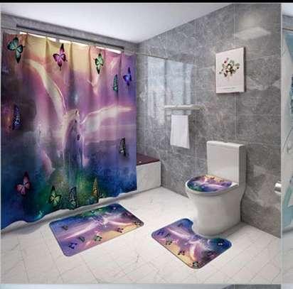 Bathroom Curtain and 2 Mats Set - Curtain - 6x6ft image 2