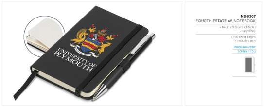Fourth Estate A6 Notebooks, Branded image 1