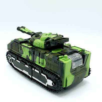 Kids Battery Operated Army Tanker Transformer Robot Toy image 5