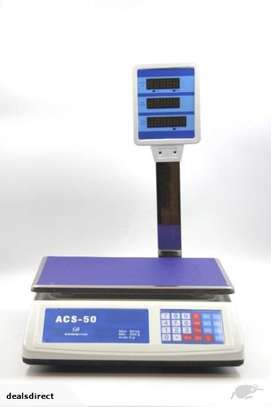 electronic weighing scale 50kg for butchery,fruits,cereals image 1