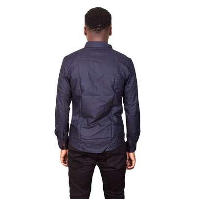 Dark Blue Cotton Shirt image 3