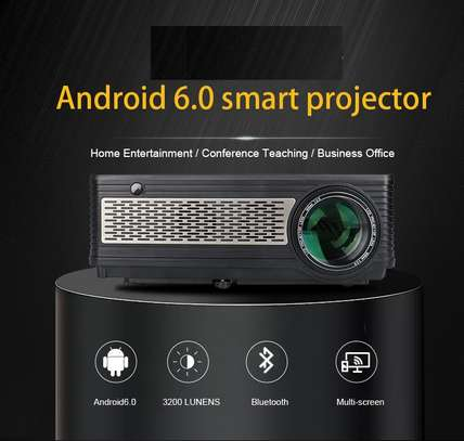 3,200 lumens android, wifi, bluetooth projector for hire  (rent, rental) image 1
