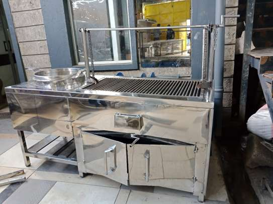 Charcoal choma grill with oven & soup boiler image 1