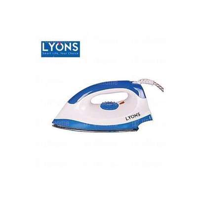 Lyons Dry Iron Box - HD198A - White & Blue image 1