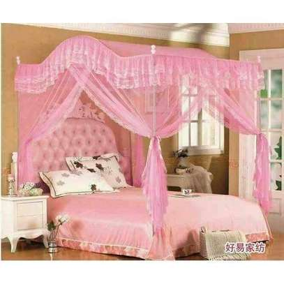 Mosquito Net with Metallic Stand (Curved) 4 by 6 - Pink