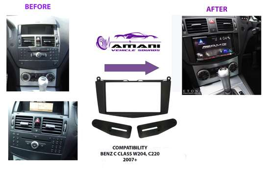 2 Din Car Radio Fascia For 2007-2011 Mercedes Benz C Class (W204) image 2