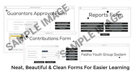 Fedha Youth Group System Complete Database Project image 2