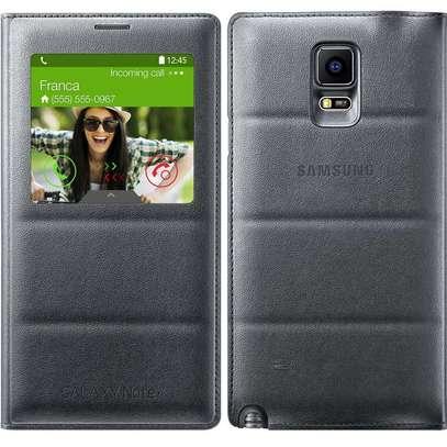 Smart S View Flip Cover Folio Case with Sensor - Samsung  Note 4 Case image 5