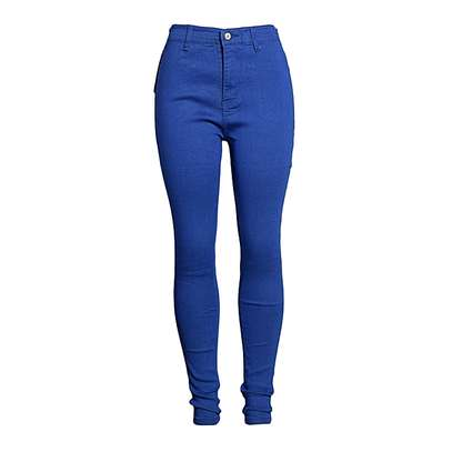 Blue High Waist Ladies Jeans image 1