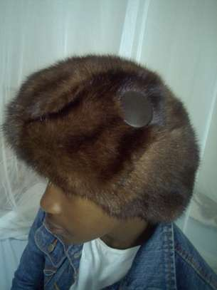 Women Mink Fur Hat Caps image 3