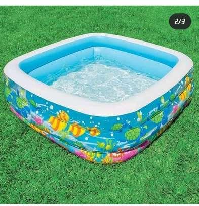 Inflatable kids swimming pool image 1