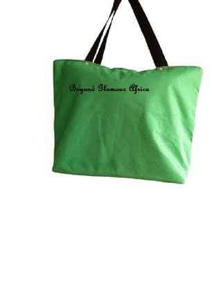 Womens Green ankara canvas handbag image 3