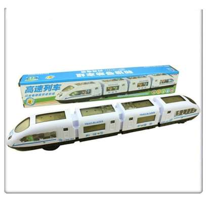 Speed White Electric Train Lights Children/Kids Play Toy image 1
