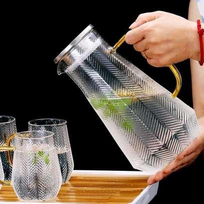High borosilicate glass jug set image 2
