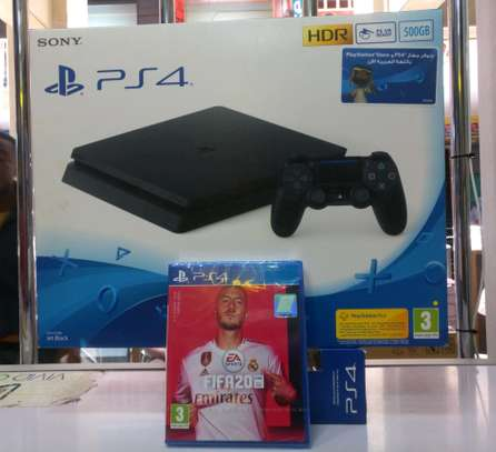 PS4 Slim 500gb + FIFA 20 game bundle image 2