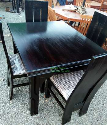4 seater mahogany dining table image 3