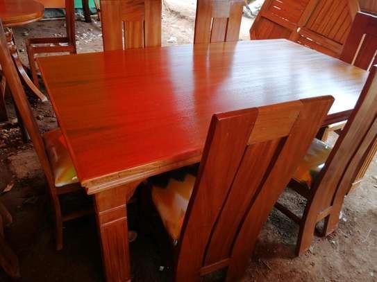 Oval mahogany dining table image 6