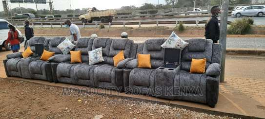 7 Seater Recliner Like Design With Cup Holders and Storage image 1
