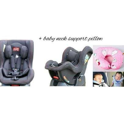 Reclining Baby Car Seat - Grey (0-5yrs) + a baby neck support pillow image 2