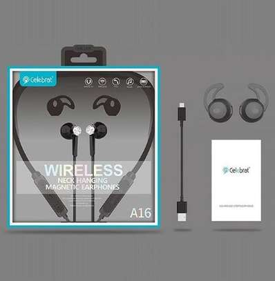 Magnetic Bluetooth earphones image 1