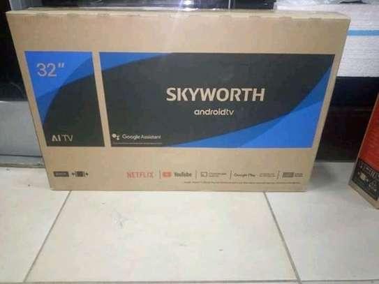 "Skyworth 32E10 - 32"" Super Narrow Google Android Smart LED TV - Black image 1"